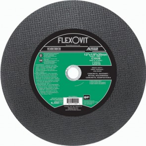 "Flexovit 12""x1/8""x20mm C30UB - HEAVY DUTY Reinforced High Speed Cutoff Wheel"