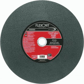 "Flexovit 14""x1/8""x20mm AC24SB - HEAVY DUTY Reinforced High Speed Cutoff Wheel"
