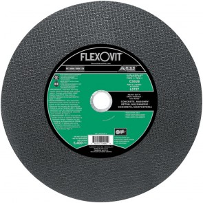 "Flexovit 14""x1/8""x1"" C30UB - HEAVY DUTY Reinforced High Speed Cutoff Wheel"