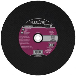 "Flexovit 16""x5/32""x20mm AC24SB - HEAVY DUTY Reinforced High Speed Cutoff Wheel"