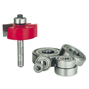 Freud 1-3/8-Inch Dia. Rabbeting Router Bit with Bearings