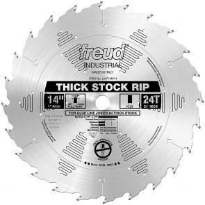 "Freud 14""X24T Thick Stock Rip Blade"