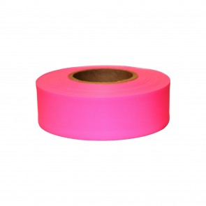 "Keson 150 ft 1-3/16"" Glo-Pink Flagging Tape"