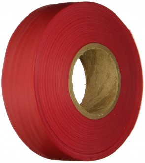 "Keson 300 ft 1-3/16"" Red Flagging Tape"