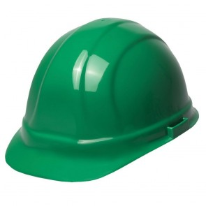 ERB Omega II Hard Hat - 6-Point Ratchet Suspension – Green