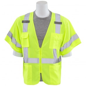 ERB Class 3 Safety Vest with Sleeves, X-Large (Lime)