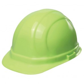 ERB Omega II Hard Hat - 6-Point Ratchet Suspension – Hi-Viz Lime