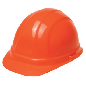 ERB Omega II Hard Hat - 6-Point Ratchet Suspension – Hi-Viz Orange