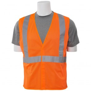 ERB Class 2 Economy Mesh Safety Vest, Large (Orange)