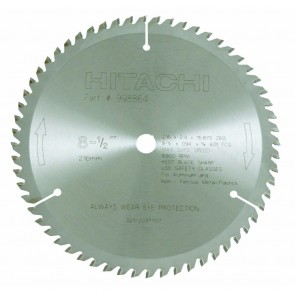 "Hitachi 8-1/2"" x 60 Tooth Saw Blade For NonFerrous Metals (Default)"