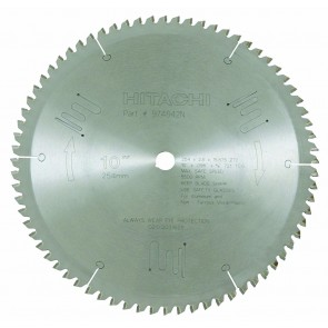 "Hitachi 10"" X 72 Tooth Triple Chip Miter Saw Blade"