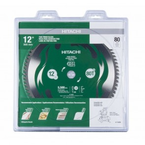 Hitachi 12 in. 80-Tooth Fine Finish VPR Blade
