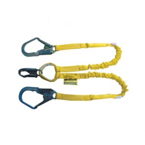 Honeywell Miller 6 ft. Manyard Shock-Absorbing Lanyards, Anchorage Connection, 2 Leg, Yellow