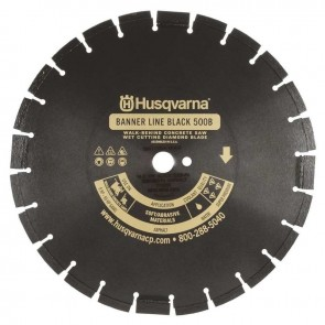 "Husqvarna 36"" Standard Black 500B-R Banner Line Asphalt Wet Saw Wide Notch Blade"