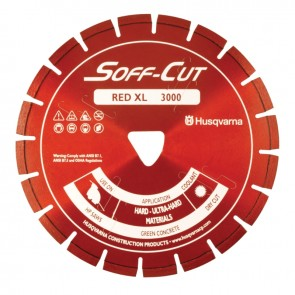 "Husqvarna 6"" Soff Cut Ultra Early Entry Diamond Blade, Red"