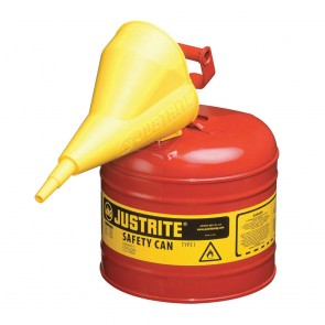 Justrite 2 Gallon Safety Can Red With Funnel Type-1