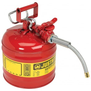 Justrite 2 Gallon Type II Safety Can Red 5/8 Hose