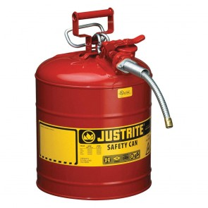 Justrite 5 Gallon Type II Safety Can Red 5/8 Hose