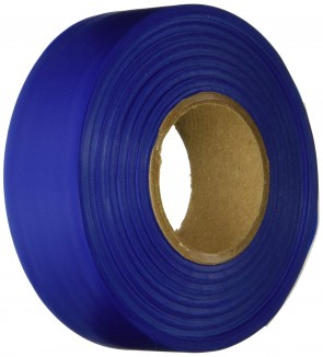 "Keson 300 ft 1-3/16"" Blue Flagging Tape"