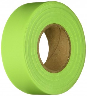 "Keson 150 ft 1-3/16"" Glo-Lime Flagging Tape"