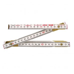 "5/8"" X 2m/6.5' Red End® SAE/Metric Engineer's Scale Wood Rule"