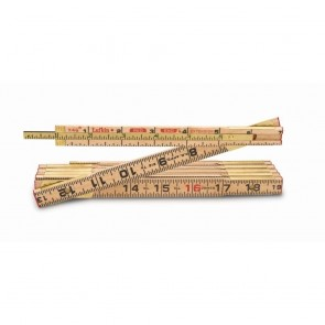 "8' x 5/8"" Wood Rule Red End with 6"" Slide Rule Extension"