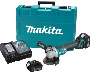 Makita 18V LXT 4.0 Ah Cordless Lithium-Ion Brushless 4-1/2 in. Paddle Switch Cut-Off/Angle Grinder Kit