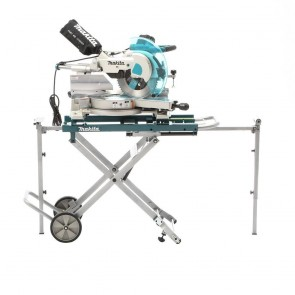 Makita 12 in. Dual Slide Compound Miter Saw with Laser Guide and Stand
