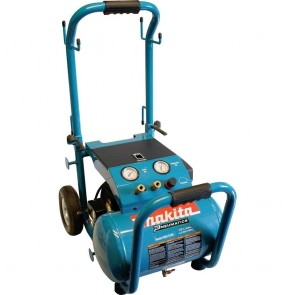 Makita 3.0 HP 5.2 Gallon Oil-Lube Wheeled Dolly-Style Air Compressor