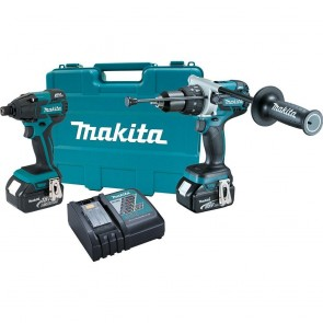 Makita 18V LXT Cordless Lithium-Ion Brushless Hammer Drill-Driver and Impact Driver Combo Kit