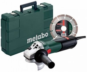 Metabo 8.5 Amp 4-1/2 in. Angle Grinder with Lock-On Sliding Switch w/ Diamond Blade