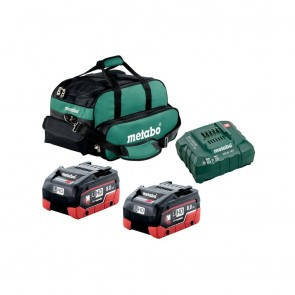 Metabo Battery Starter Kit 8.0 Ah 2 Batteries, Charger and Soft Case