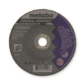 Metabo Type 27 Depressed Center Wheel; 4-1/2 Inch x 1/4 Inch x 7/8 Inch
