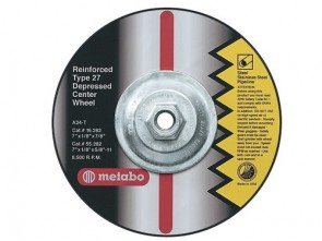 Metabo Type 27 Depressed Center Grinding/Notching/Cutting Wheel; 6 Inch x 1/8 Inch x 7/8 Inch