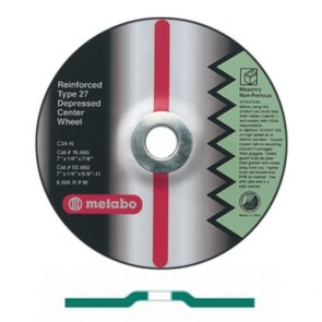 Metabo Type 27 Depressed Center Wheel; 6 Inch x 1/4 Inch x 7/8 Inch