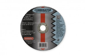 "Metabo 6"" x 5/64"" x 7/8"" T27 46-Grit Combinator Cut-Off/Grinding Disc"