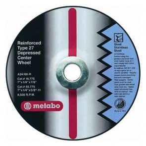 Metabo Type 27 Depressed Center Plus Grinding Wheels