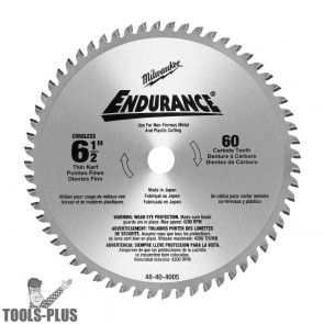 "Milwaukee 6-1/2"" Non-Ferrous Metal Cutting Circular Saw Blade"