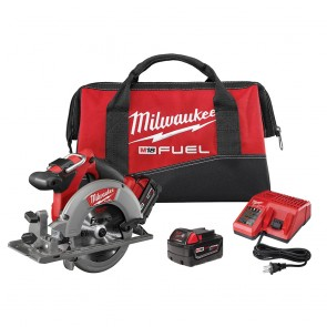 Milwaukee M18 FUEL Cordless 6-1/2 in. Circular Saw with 2 REDLITHIUM Batteries
