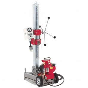 Milwaukee Diamond Coring Rig with Large Base Stand, Vac-U-Rig® Kit and Meter Box