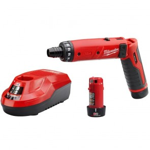 Milwaukee 4V Cordless M4 Lithium-Ion 1/4 in. Hex Screwdriver Kit
