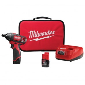 Milwaukee M12 Cordless Lithium-Ion Sub-Compact Screwdriver Kit with 2 Batteries