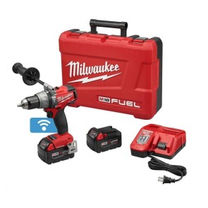 Milwaukee M18 FUEL 5.0 Ah Cordless Lithium-Ion 1/2 in. Hammer Drill Driver Kit with ONE-KEY Connectivity