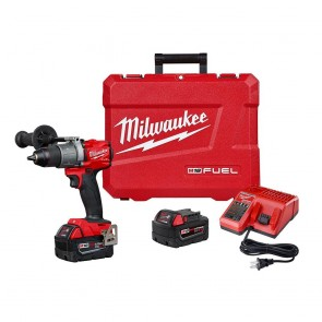 Milwaukee M18 Fuel 18-Volt Lithium-Ion Brushless Cordless 1/2 in. Hammer Drill Driver Kit