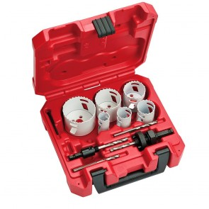 Milwaukee 10-Pc Electricians Ice Hardened Hole Saw Kit