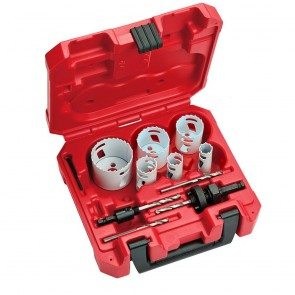 Milwaukee 10-Pc Plumbers Ice Hardened Hole Saw Kit