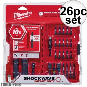 Milwaukee 26-Piece Shockwave Drive and Fasten Bit Set
