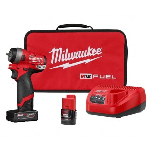 "Milwaukee M12 FUEL 1/4"" Stubby Impact Wrench Kit"