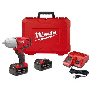 Milwaukee M18 Cordless 1/2 in. Lithium-Ion High Torque Impact Wrench Kit with 2 Batteries