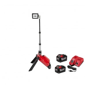 Milwaukee M18 One Key 18V Lithium Ion Cordless Rocket Dual Pk Tower Light Kit